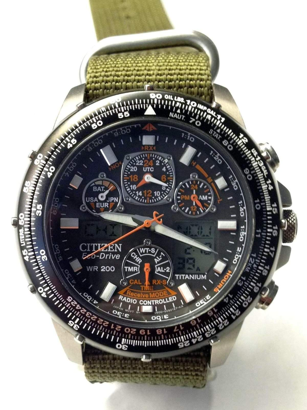 citizen eco skyhawk watch how to use it