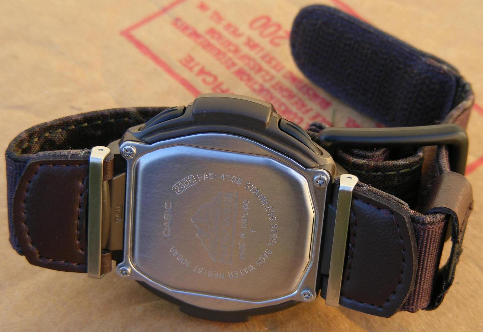 Casio Pathfinder Hunting Timer Pas410b